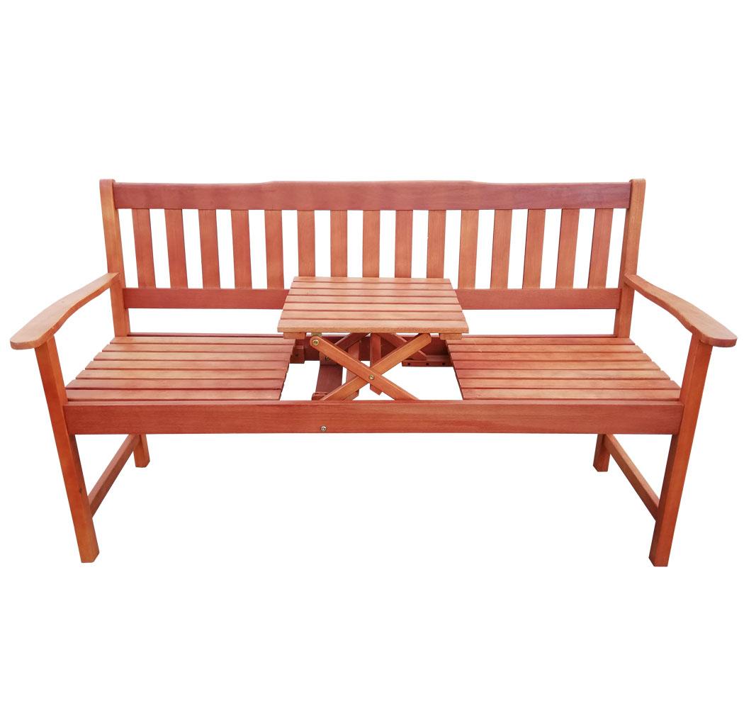 kmh 3er hartholz gartenbank tisch sitzbank holzbank parkbank bank eukalyptus ebay. Black Bedroom Furniture Sets. Home Design Ideas