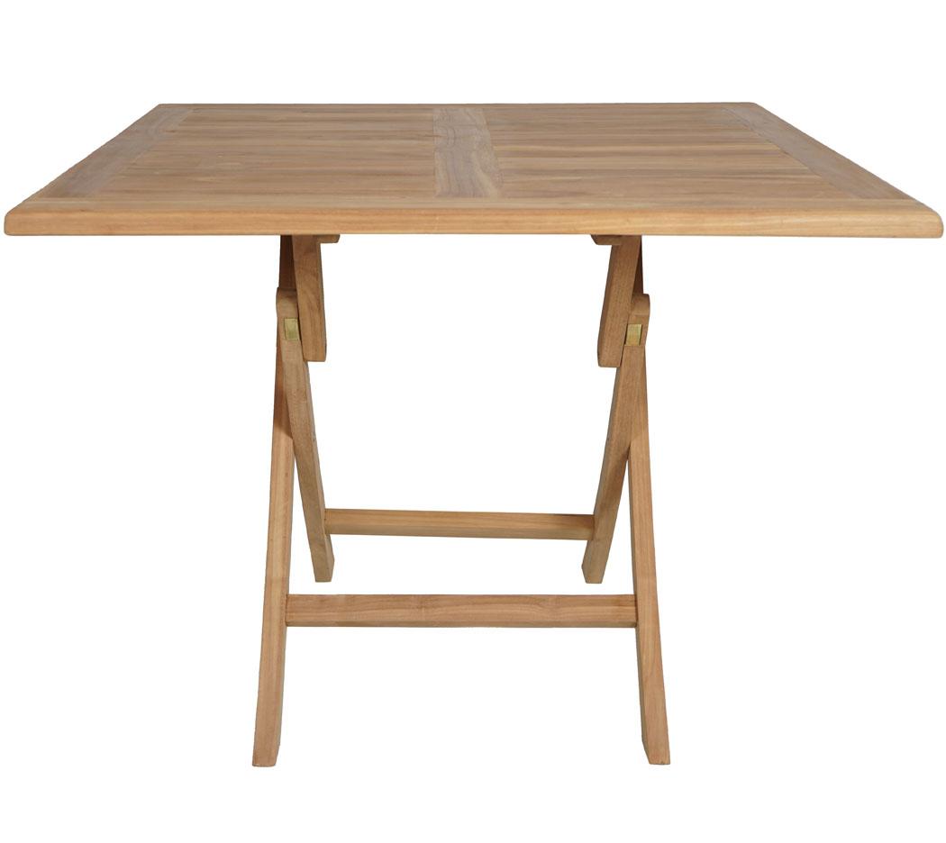 Kmh Teak Gartentisch 100x100 Tisch Klapptisch Teaktisch