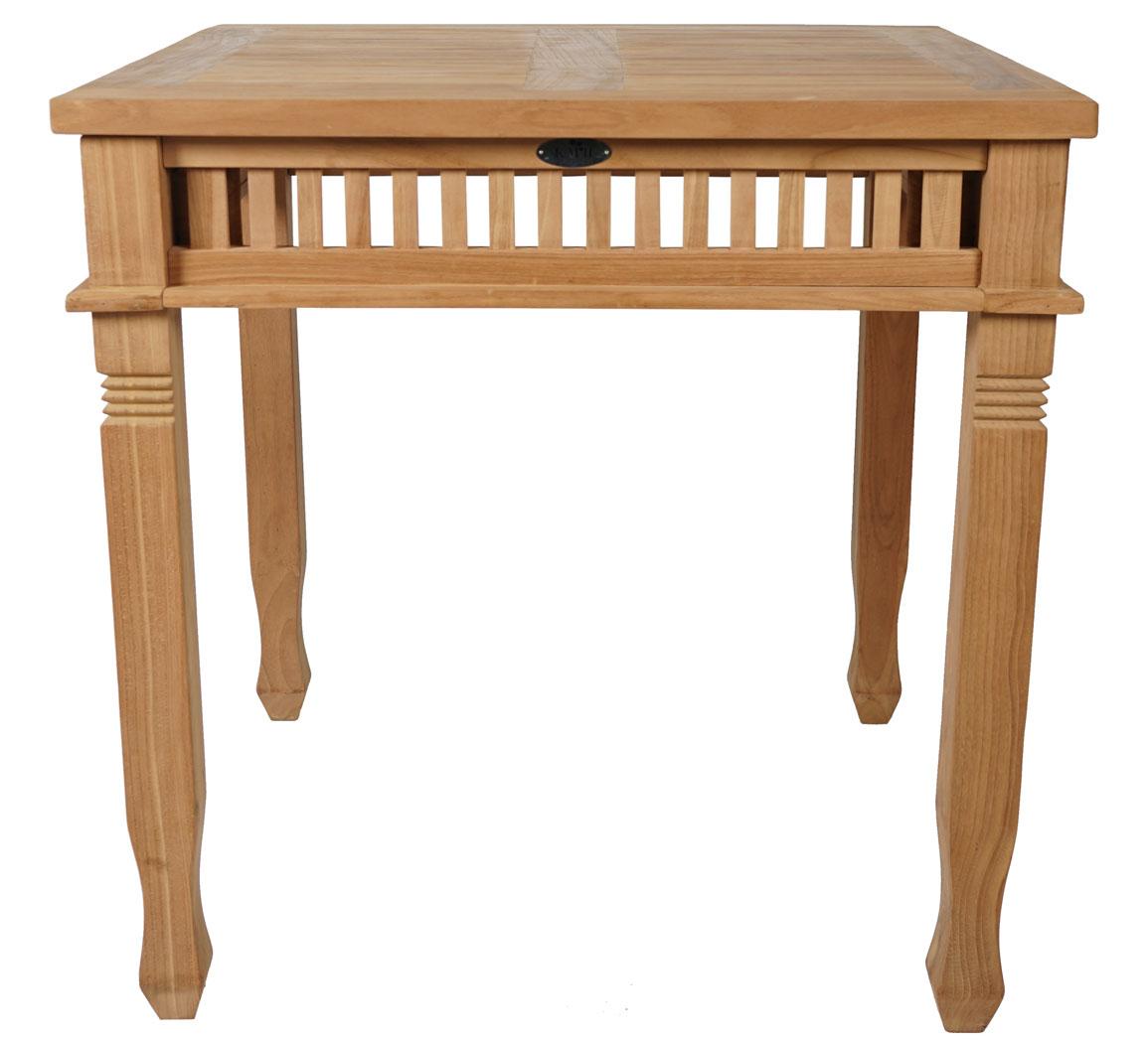 Details zu KMH® Teak Gartentisch 80 x 80cm Esstisch Teaktisch Holztisch Tisch Holz colonial