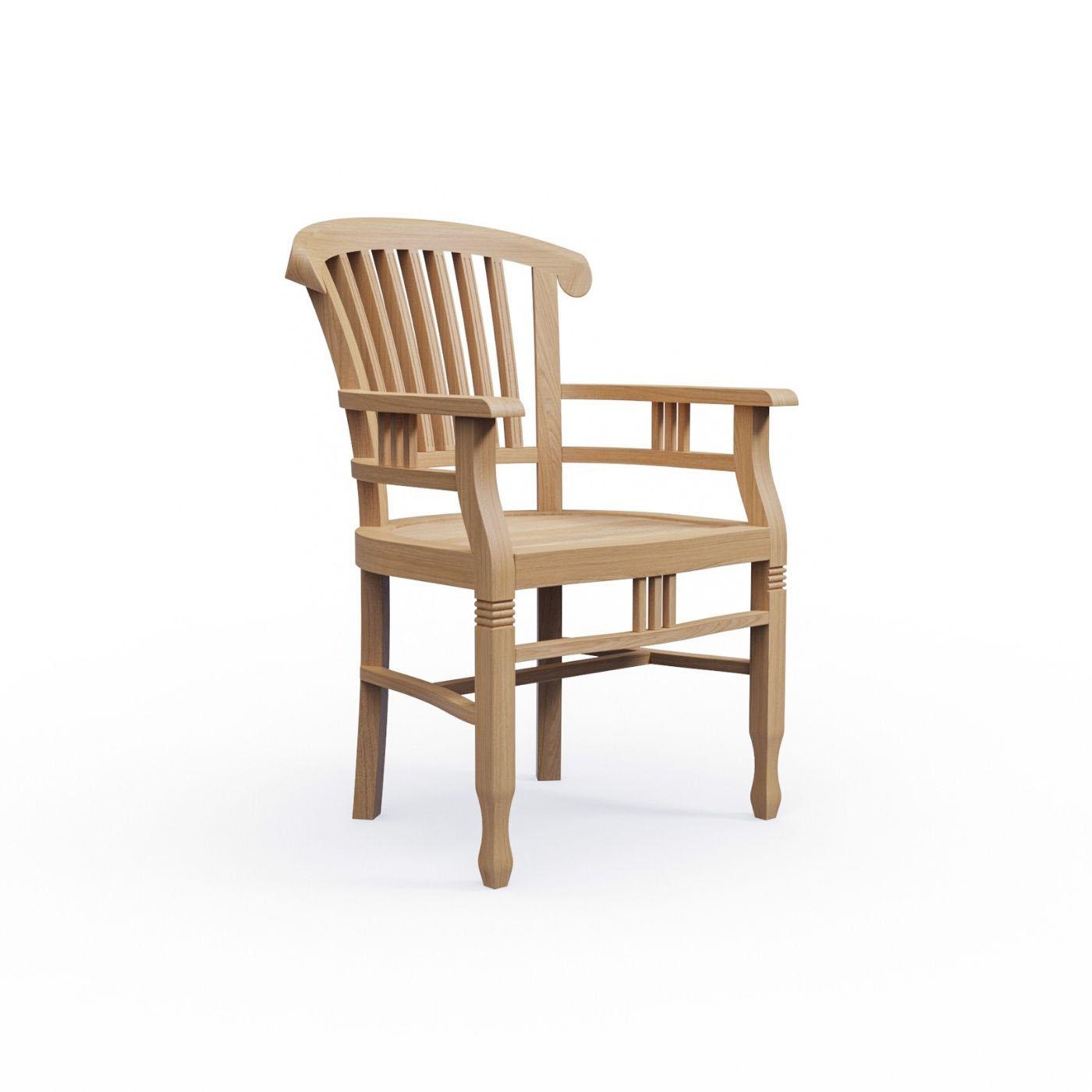 kmh teak gartensessel mit armlehnen gartenstuhl stuhl sessel holz colonial ebay. Black Bedroom Furniture Sets. Home Design Ideas