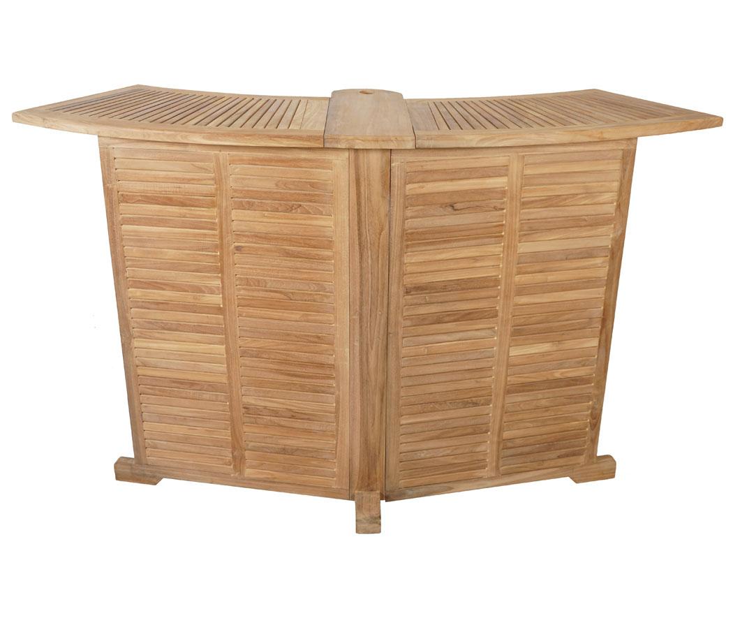 kmh teak gartentheke gartenbar theke bar tresen stehtisch bartisch klappbar ebay. Black Bedroom Furniture Sets. Home Design Ideas