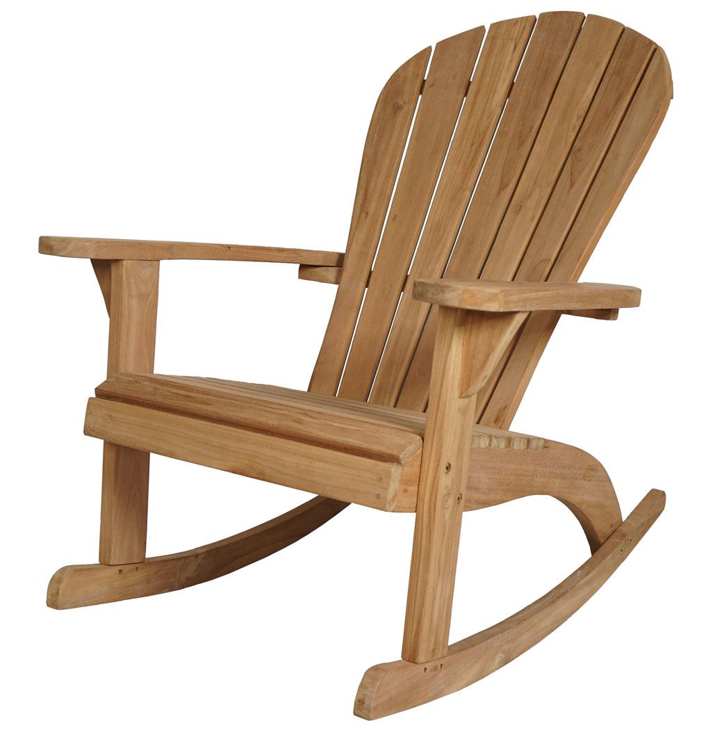 Kmh teak adirondack schaukelstuhl chair relaxsessel stuhl deckchair holz sessel ebay - Schaukelstuhl aus holz ...
