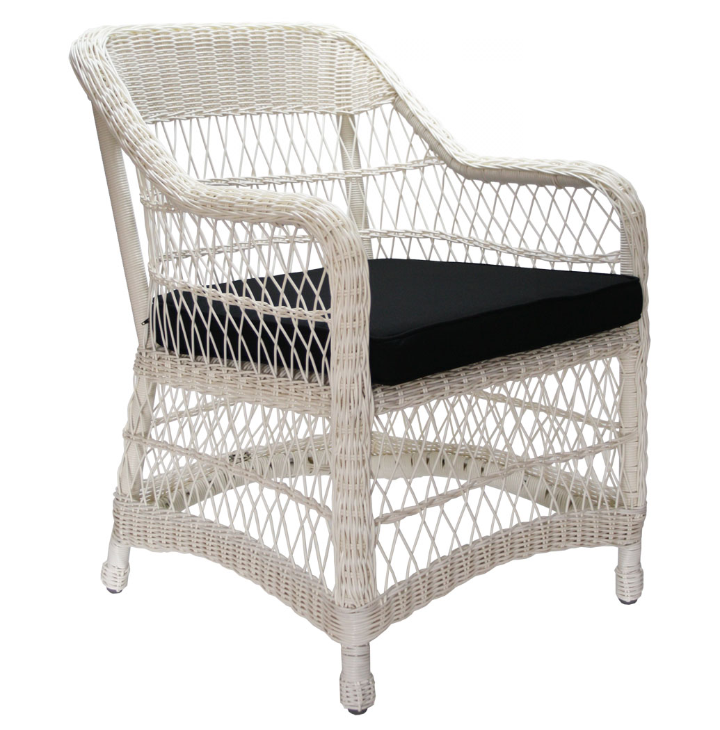 kmh 2 polyrattan armlehnenstuhl wei sessel stuhl. Black Bedroom Furniture Sets. Home Design Ideas