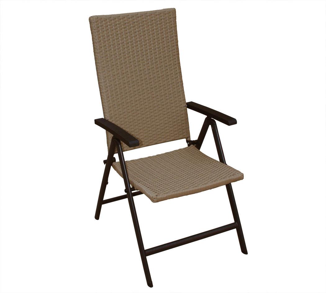 kmh polyrattan hochlehner braun gartenstuhl stuhl klappstuhl klappbar rattan ebay. Black Bedroom Furniture Sets. Home Design Ideas