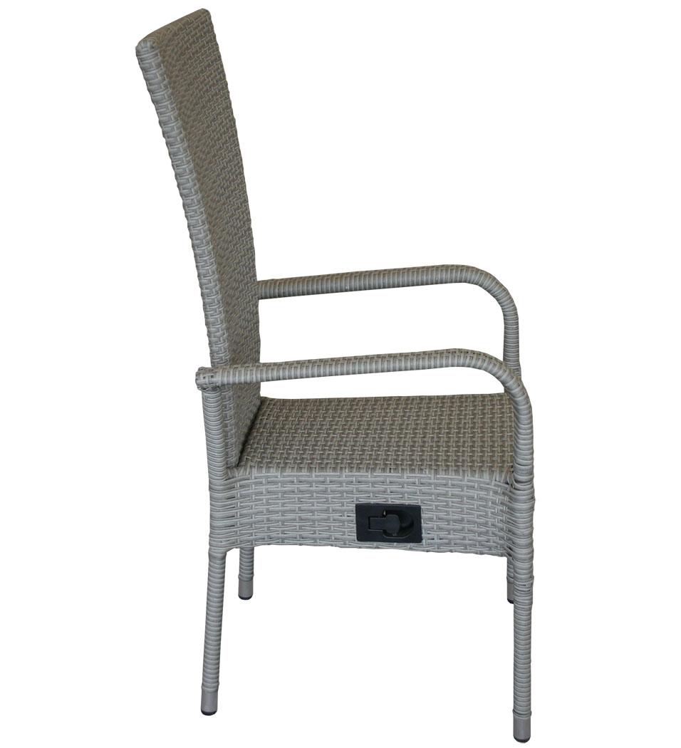 kmh polyrattan hochlehner grau stapelbar stapelstuhl. Black Bedroom Furniture Sets. Home Design Ideas