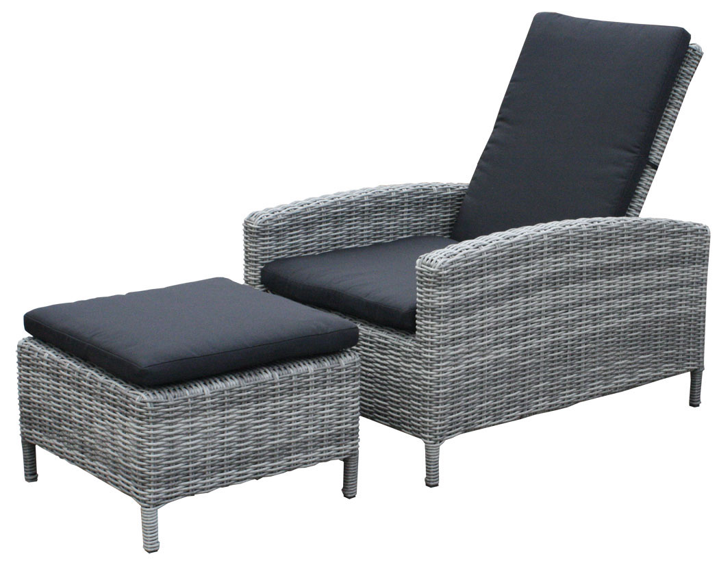 kmh polyrattan lounger liege sonnenliege gartenliege. Black Bedroom Furniture Sets. Home Design Ideas