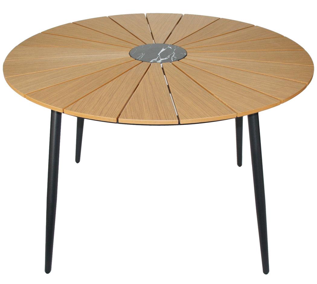 kmh gartentisch 120 cm rund tisch gartenm bel alutisch esstisch terrassentisch ebay. Black Bedroom Furniture Sets. Home Design Ideas