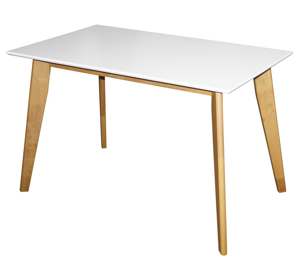 kmh esstisch 120x70 weiss esszimmertisch k chentisch holztisch tisch rechteckig ebay. Black Bedroom Furniture Sets. Home Design Ideas