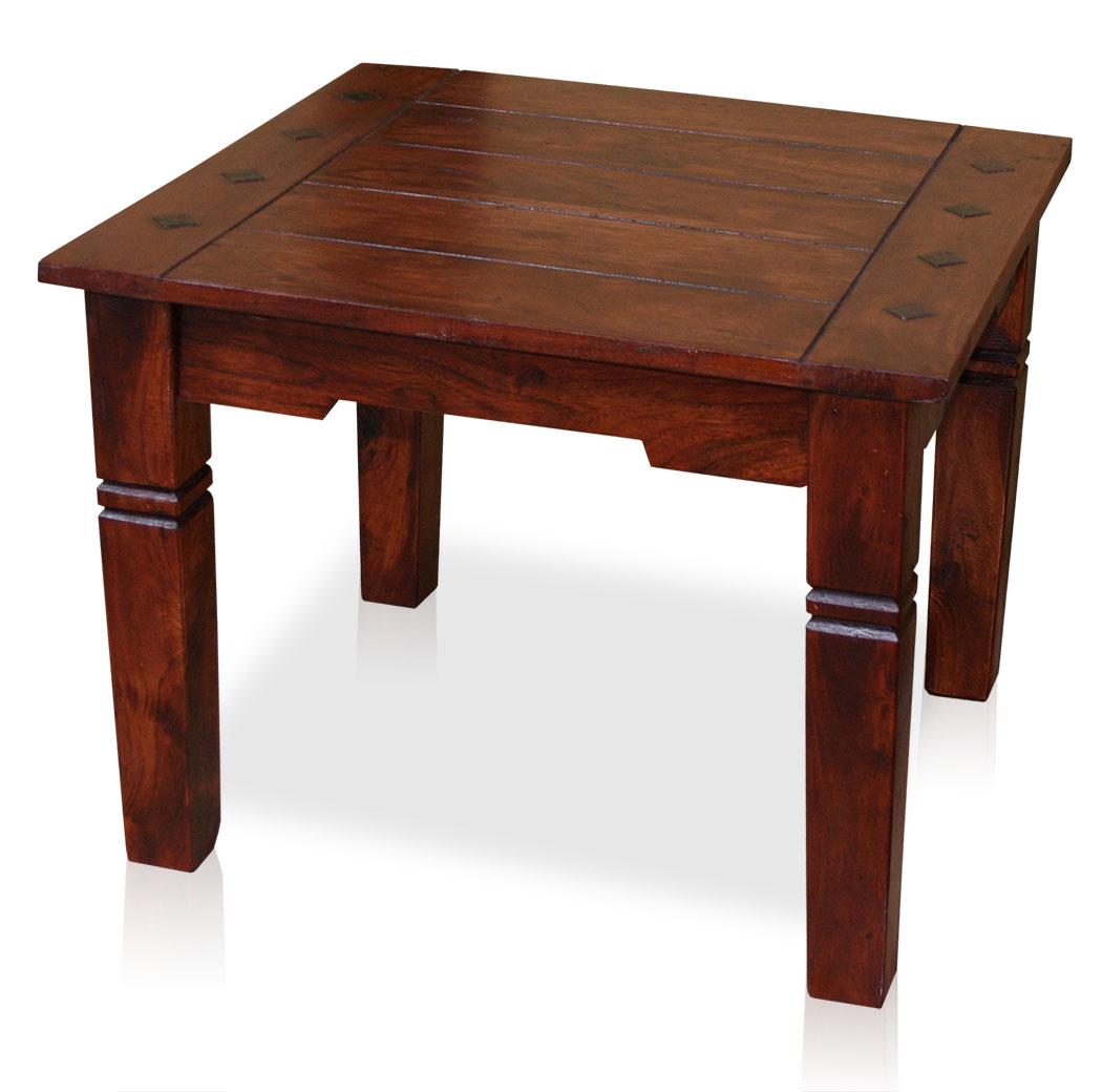 kmh couchtisch 60 x 60 cm wohnzimmertisch beistelltisch tisch antik braun holz ebay. Black Bedroom Furniture Sets. Home Design Ideas