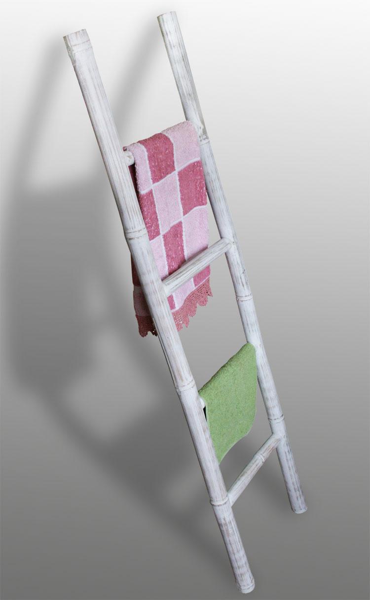 kmh handtuchhalter bambus bambusleiter dekoleiter leiter handtuchstange holz ebay. Black Bedroom Furniture Sets. Home Design Ideas