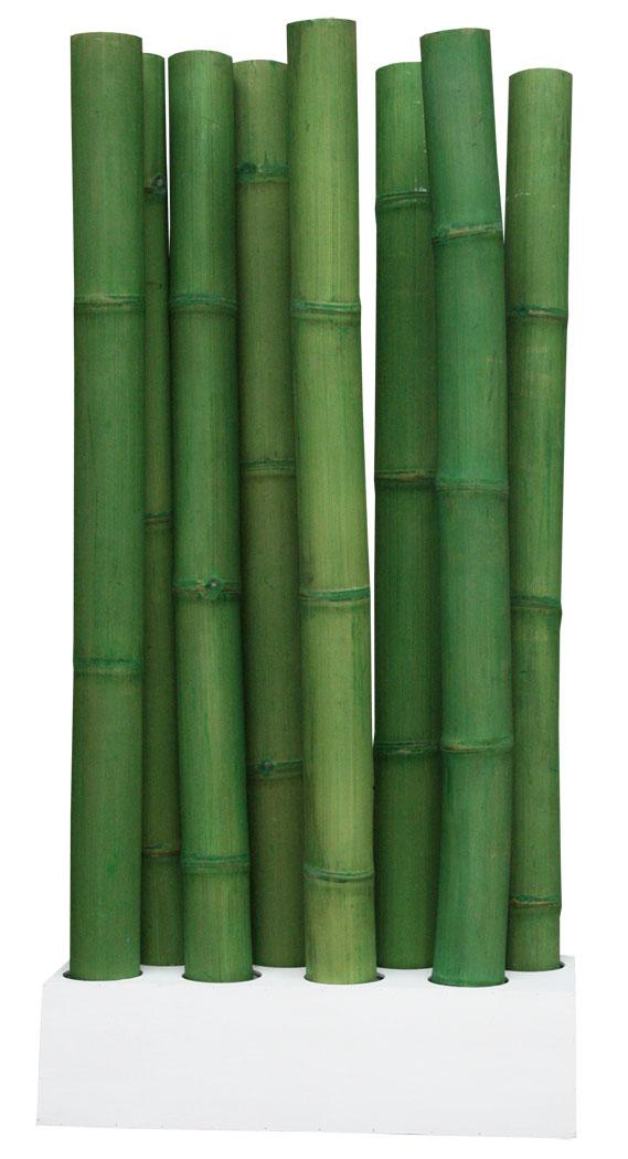 Kmh raumteiler paravent sichtschutz bambus bambusm bel trennwand deko gr n ebay - Bambusrohre deko ...