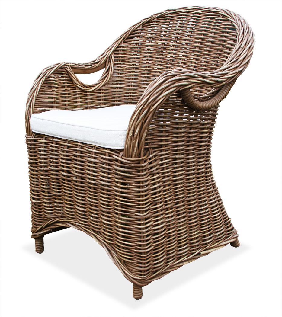 kmh rattansessel braun korbsessel arm ses sel rattanstuhl. Black Bedroom Furniture Sets. Home Design Ideas