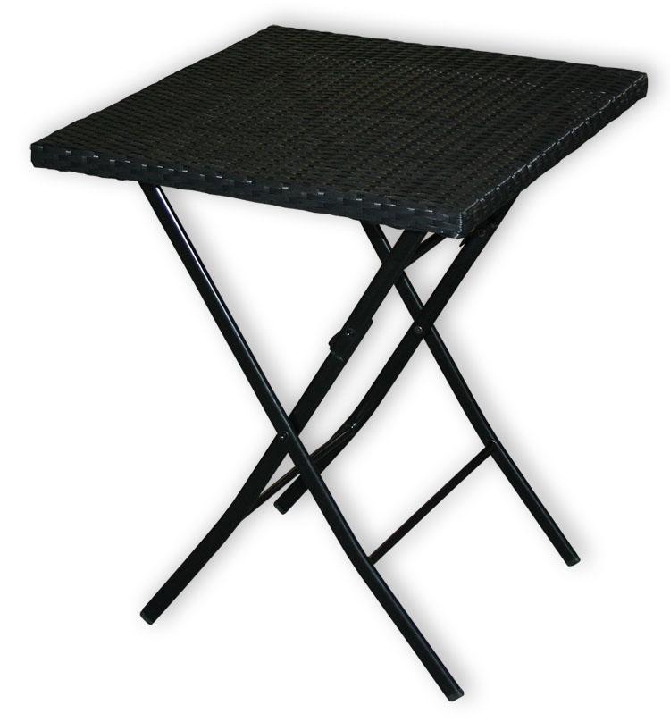 polyrattan tisch klapptisch balkontisch bistrotisch klein. Black Bedroom Furniture Sets. Home Design Ideas