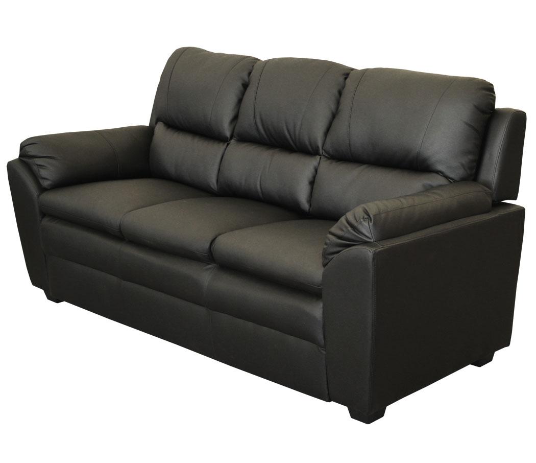 3 sitzer wohnzimmercouch schwarz sofa couch kunstleder polsterm bel b ware ebay. Black Bedroom Furniture Sets. Home Design Ideas